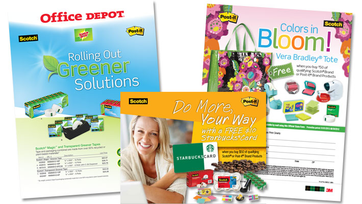 3M marketing mailers and circulars