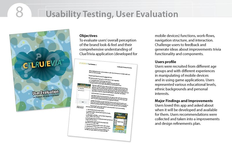 user experience presentation page