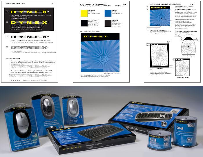 Dynex (Best Buy label) brand idenity