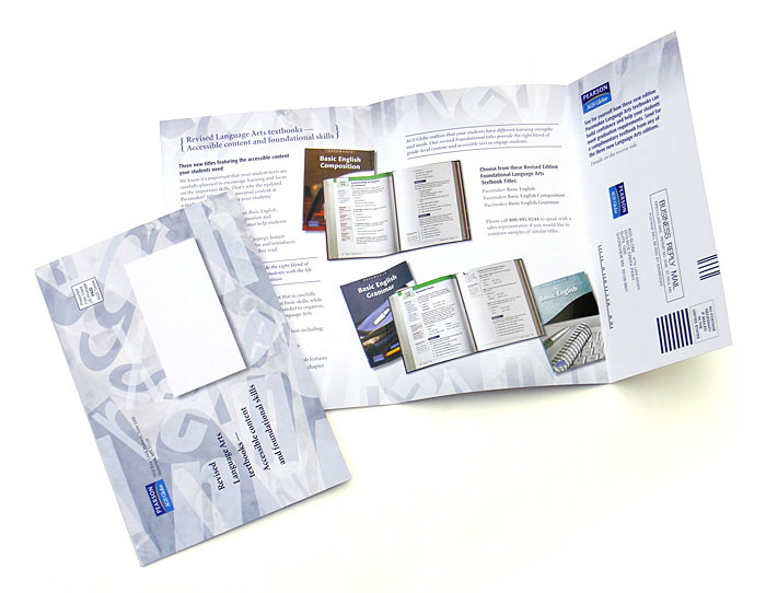 direct mail designed for Pearson
