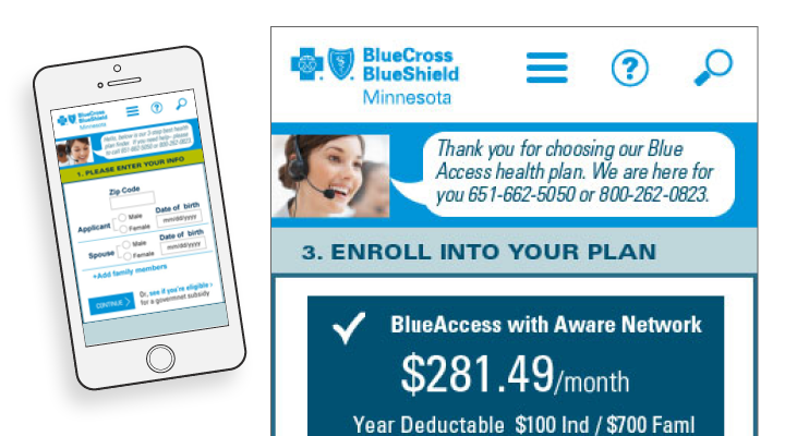 instant quote responsive health insurance web design