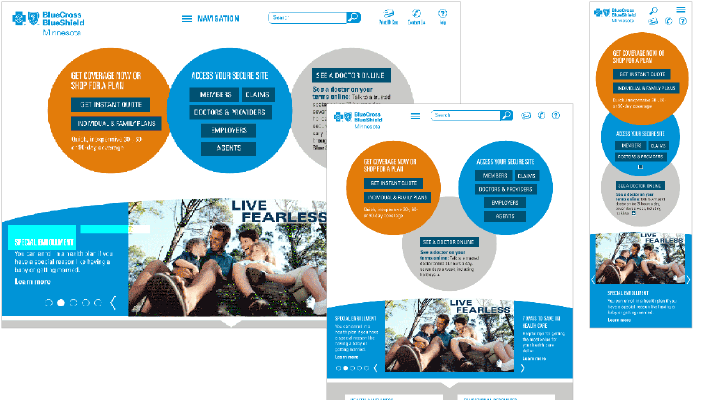 mood-board- designing website for health insurance