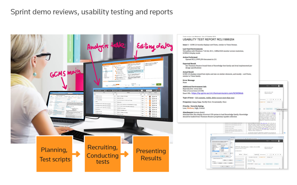 GCMS usability test, reports